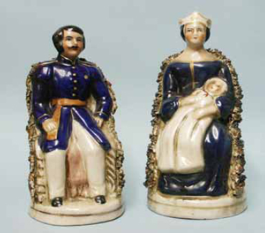New Queen Victoria and Prince Albert Staffordshire figures