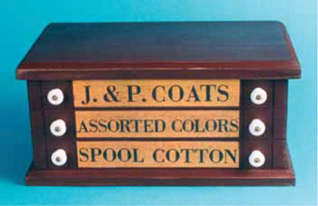 New Sewing Thread Spool Cabinets with Famous J & P Clark Name