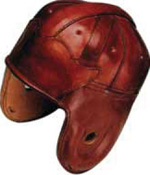 Classic leather football helmets reproduced