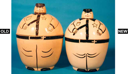Watt Pottery Policeman Cookie Jar Fakes
