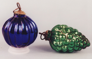 1 two new kugel glass ornaments