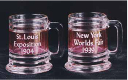 New Red Flashed Souvenir Toothpick Holders with Early Dates