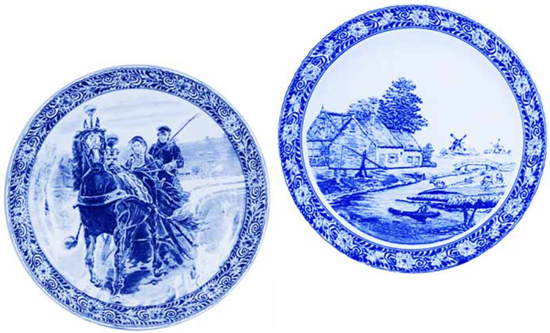 The only source of the 16u2033 diameter so-called  Delft  platters above is from antique reproduction wholesalers; no old counterparts in these designs were ...  sc 1 st  Real Or Repro & Delft Plaques and Plates - Created for Decorators and Reproducton ...