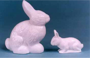Milk Glass Rabbits