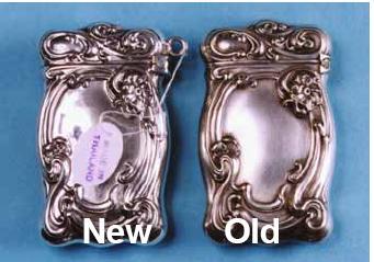 Sterling Silver Matchsafe Copied - American Art Nouveau
