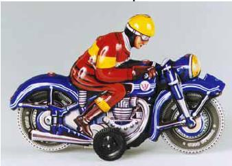 Classic Tin Motorcycle Molds Back in Production