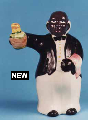 Black Americana Figural Butler Decanter Copied