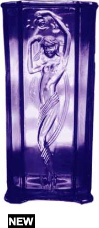 Look-alike Vase Copies Deco Lamp by Tiffin U.S. Glass
