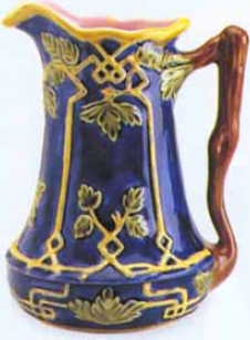 New Ivy Pattern Majolica Pitcher