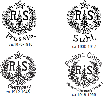 Fakes, Copies & Reproductions of R S  Prussia, Germany, Suhl, Poland