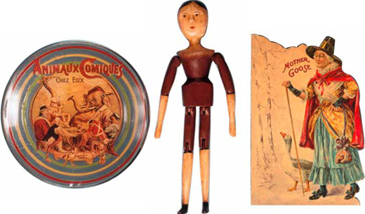 Toys Reproduced in Paper, Wood and Cloth