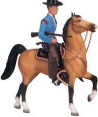 Breyer horse and rider copied