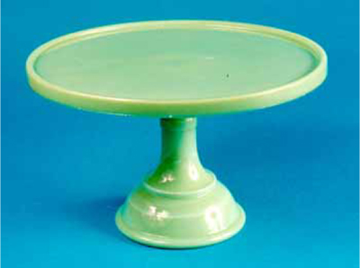 8 New 10u2033 inch cake stand in Jadeite. Also available in clear glass and milk glass. Marked  Martha by Mail  in small letters along bottom rim (see Fig.  sc 1 st  Real Or Repro : jadeite cake plate - pezcame.com