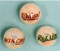 Collectible trade names on new marbles