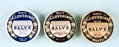 Cloverine Salve tins