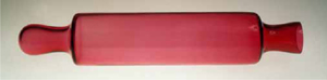 New Cranberry Glass Rolling Pin