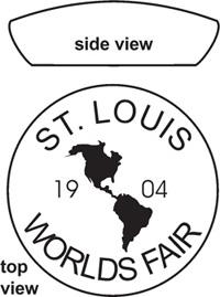 Fake Louisiana Purchase 1904 Paperweight