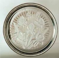 Reproduced Jeannette Glass Iris Coasters - Iris and Herringbone
