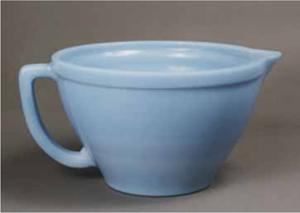 New Opaque Blue Glass Batter Bowl