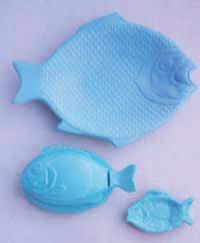 Blue Milk Glass from Martha Stewart