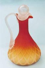 Italian Cruets from 1970-1980s Copied Victorian Art Glass