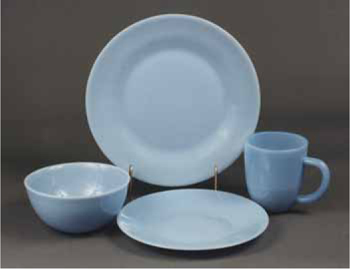 More New Opaque Blue Glass - Table Settings
