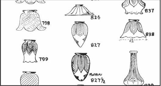 Lamp Shade Shapes art glass shades - original or copy?