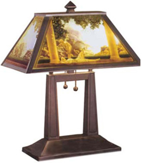 Lithophane Lamps from Maxfield Parrish Illustrations
