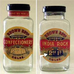 English 12-inch Apothecary Jars with New Labels