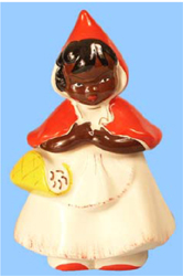 Black-faced Little Red Riding Hood Cookie Jar