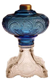 Two-color Princess Feather Glass Lamp