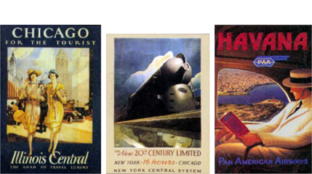 New copies of classic 1930s travel posters