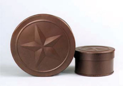 Embossed star country boxes