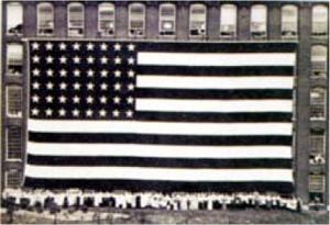 1914 Patriotic Flag Photo Copied
