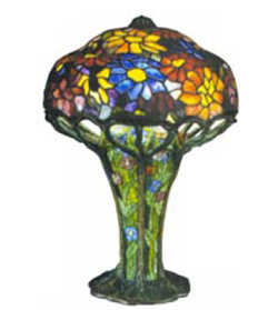 1 New 22 Inch Peony Lamp By Dale Tiffany Inc. Copied From LC Tiffany  Pattern Of The Same Name. Retail $699.