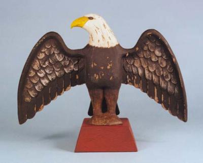 Patriotic wood carvings