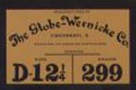 New Globe-Wernicke stack bookcase labels