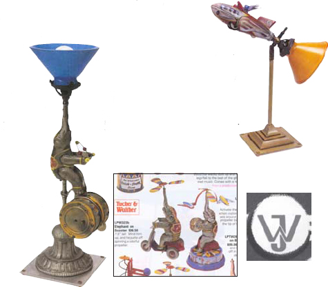 Lamps from new tin toys