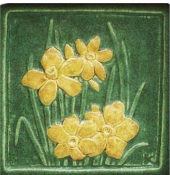 Vintage Roycroft Pottery Tiles