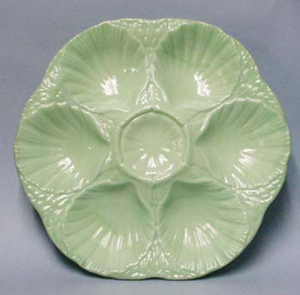Jadite Oyster Plates, Candlesticks & Tableware
