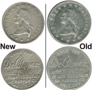 Scarce Dr. Pepper token forged
