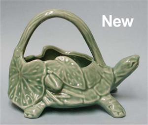 New Turtle Planter and Sprinkler Marked McCoy