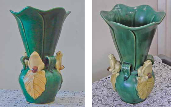 New Frog Vase Confused With Weller Coppertone Line