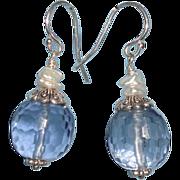 SOLD Man Made Kyanite Blue Earrings (short dangle)