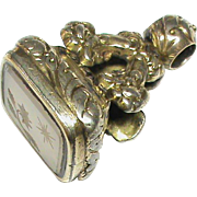 SALE Antique Victorian Gold gilt Intaglio Seal