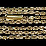 "Antique Victorian 15k Gold Chain Necklace 4.5g 15"""