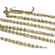 Antique Victorian 15k Gold Chain Necklace