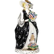 """Art Pottery 16"""" full Figural Statue of a Grand Lady"""