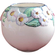 Carlton Ware English floral pot in soft pink with a floral boarder on top