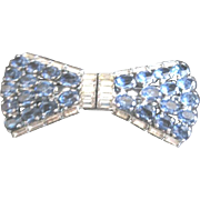 Czech complete rhinestone duette with blue and clear rhinestones
